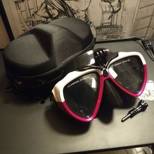 DIVING MASK w GoPro Mount - Red Dive Gear NEW
